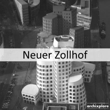 Neuer Zollhof – kantoorgebouwen van Frank O. Gehry in Düsseldorf