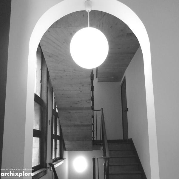 Leeszaal en depot Museum Plantin-Moretus Antwerpen - trappenhal